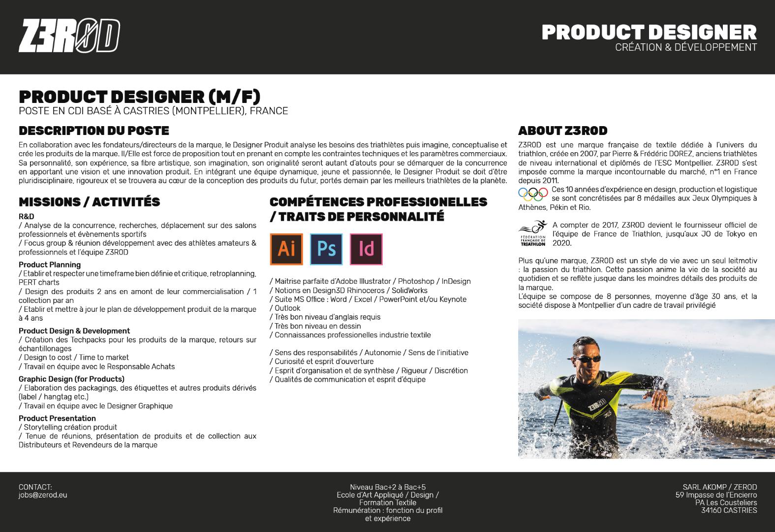 Z3R0D Recherche un Designer Produit