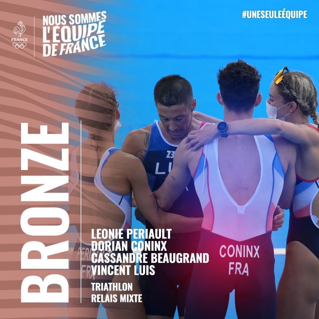 🥉 Nos triathlètes tricolores décrochent le bronze aux Jeux de Tokyo !