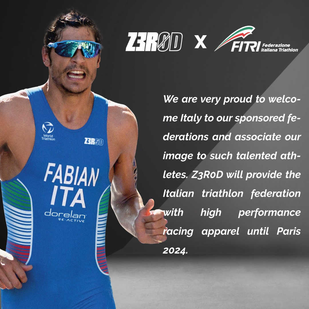 Z3R0D becomes official sponsor of the Italian Triathlon Federation!