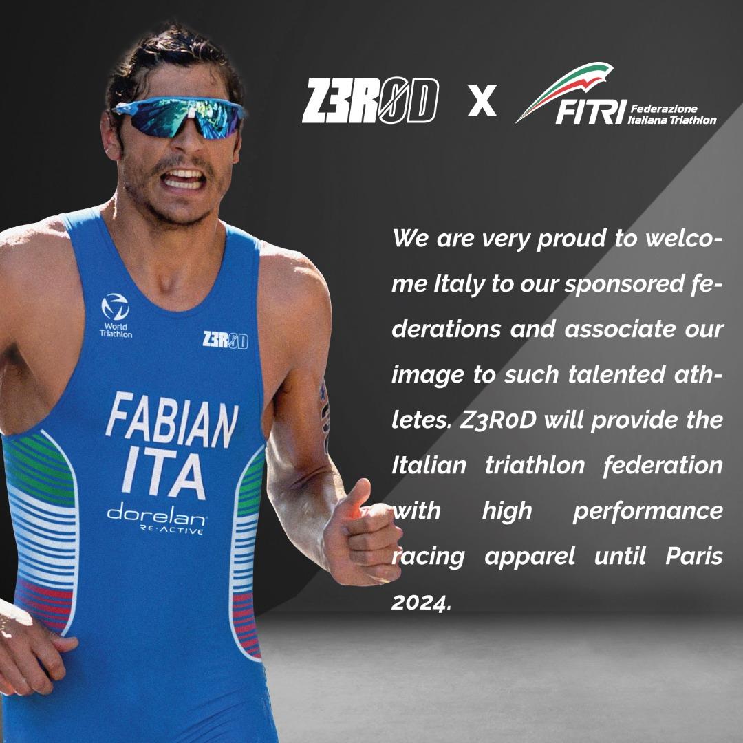 Z3R0D devient sponsor officiel de la fédération italienne de triathlon !