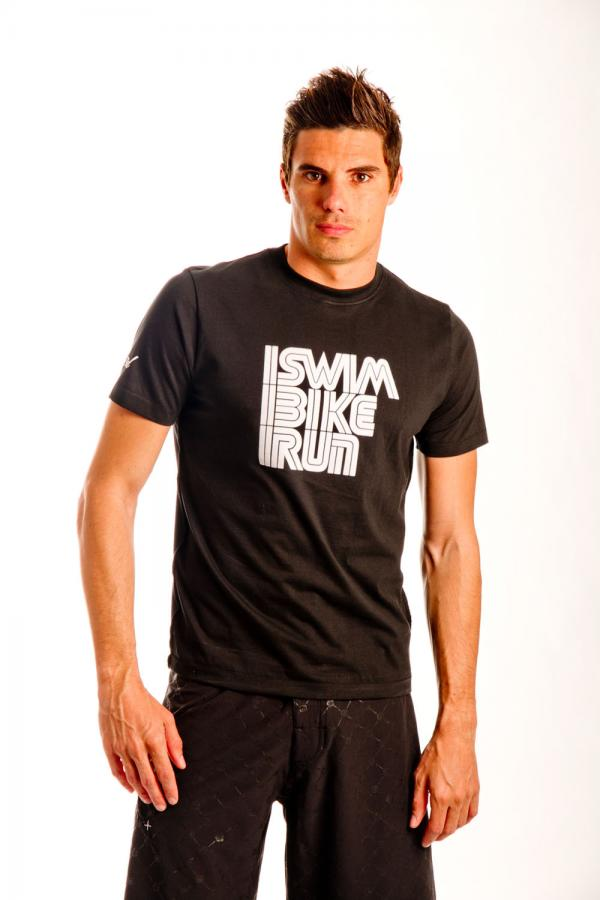 TSHIRT Swim Bike Run Black
